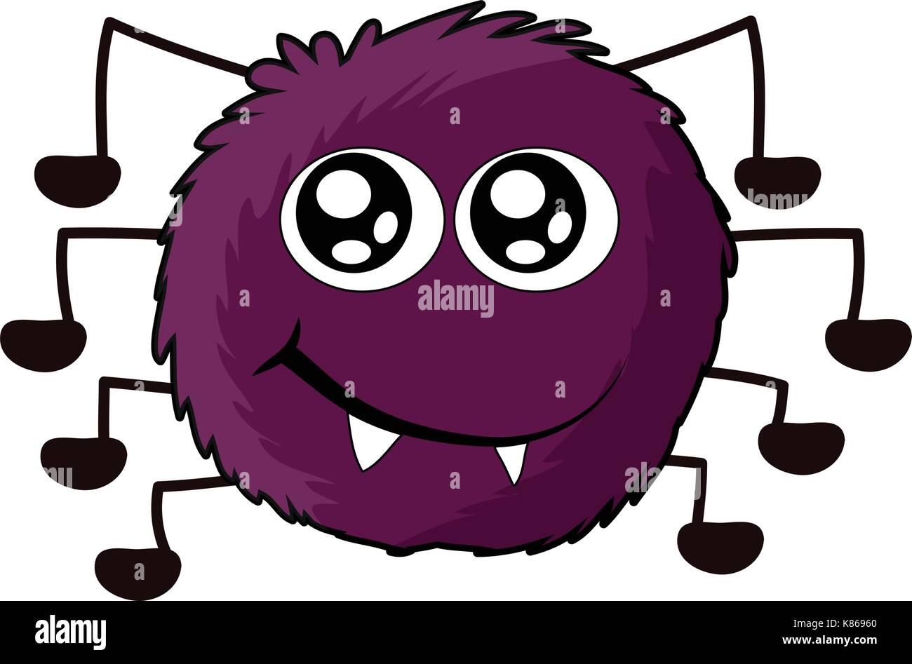 halloween spider vector symbol icon design. Beautiful illustration isolated on white background - Stock Image