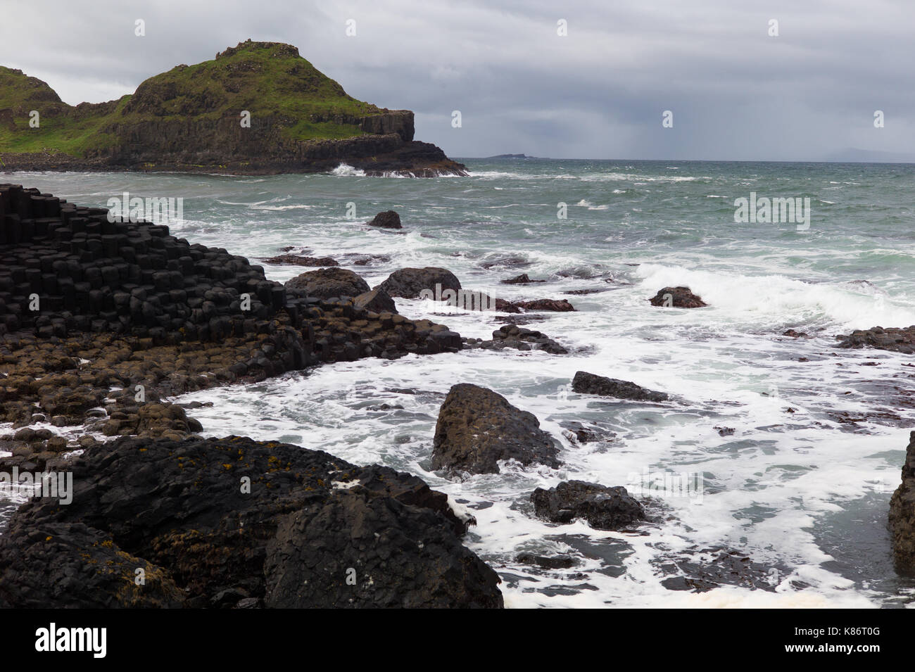 Giant's Causeway.Causeway Coastal Route, Northern Ireland - Stock Image