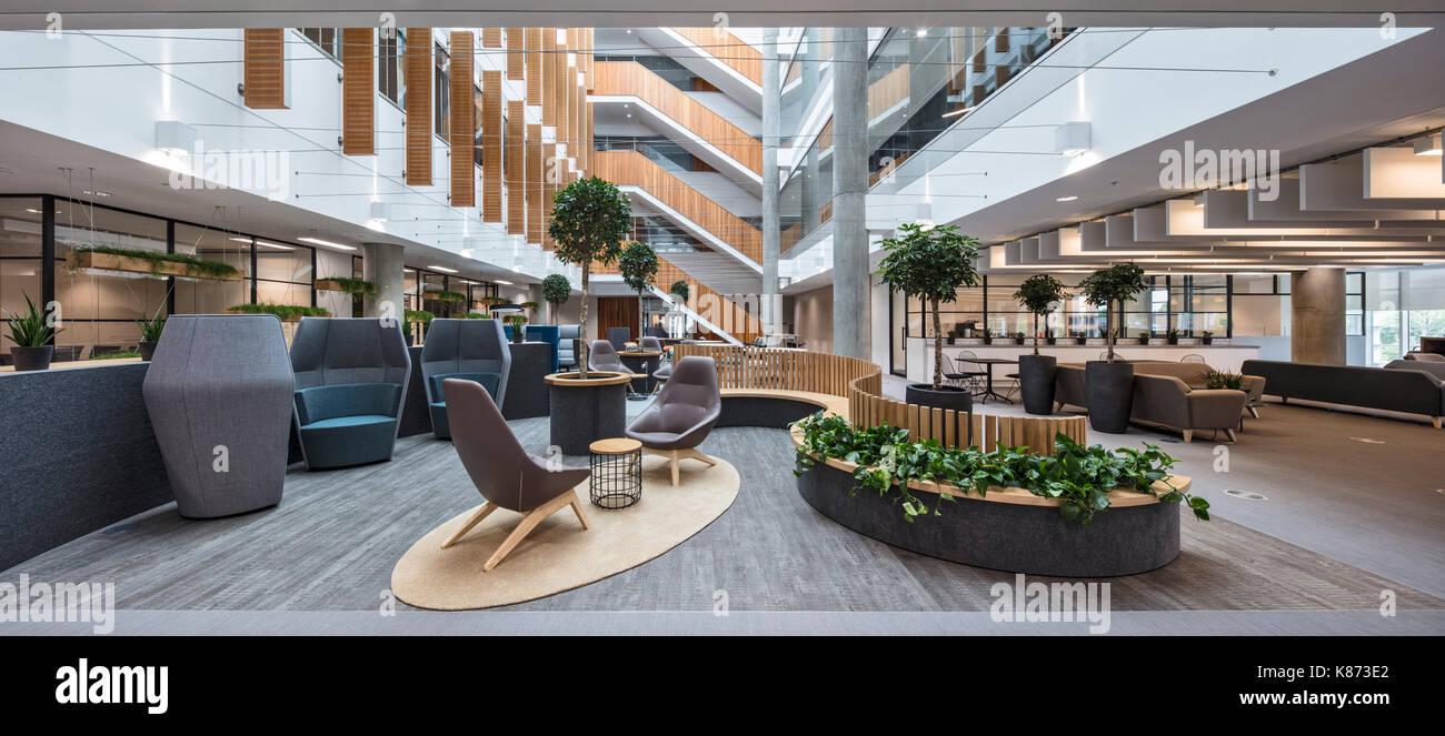 atrium eoffice Atrium sitting area. YOOX Net-A-Porter Offices, London, United Stock ...