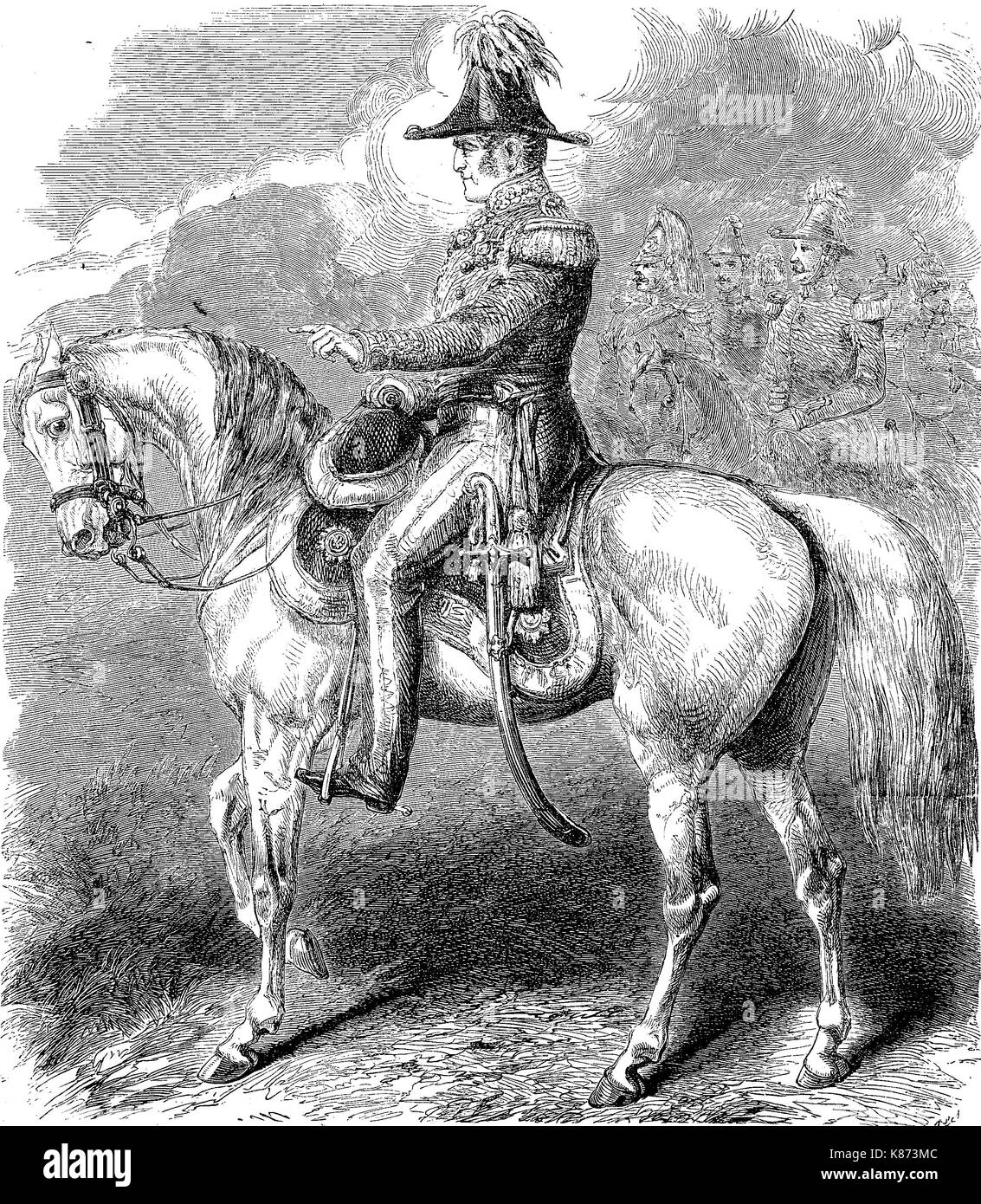General Sir James Simpson GCB, 1792 - 1868, was a British Army officer of the 19th century. He commanded the British troops in the Crimea from June to November 1855, Crimean War, Digital improved reproduction of an original woodprint from the 19th century - Stock Image