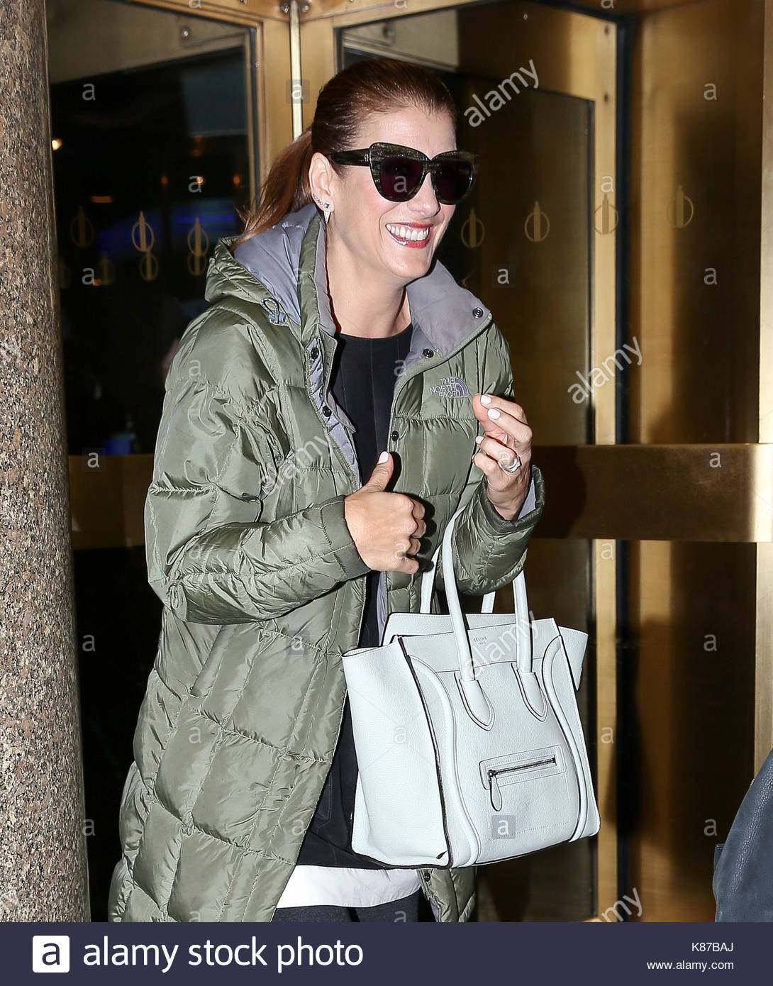 2ecaa07433d Kate Walsh is all smiles while wearing flip flops as she leaves the NBC  studios on a freezing cold day in New York City.