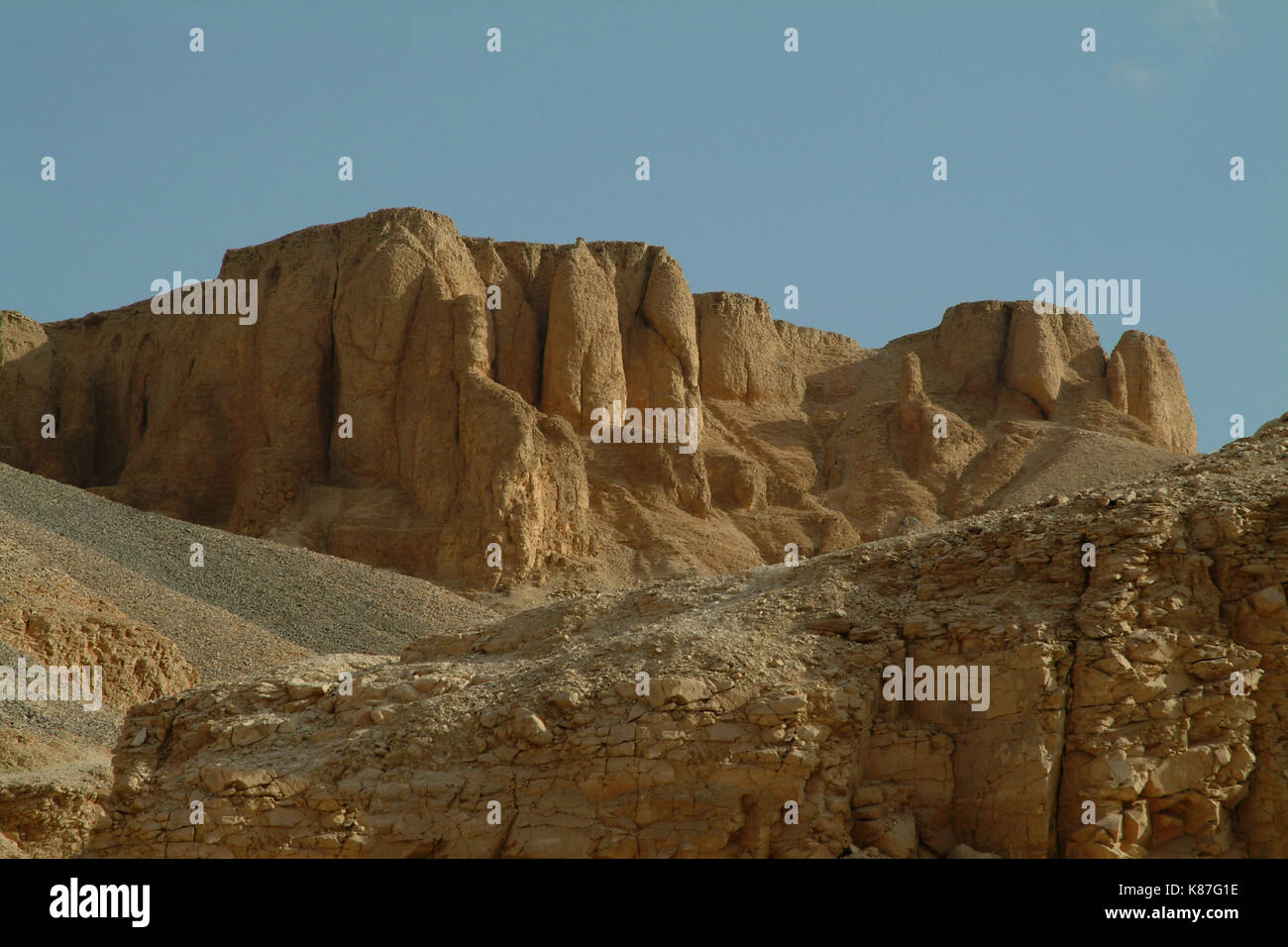The Tombs in the Valley of the Kings without people, Thebes, Luxor, UNESCO World Heritage Site, Egypt, North Africa, Africa - Stock Image