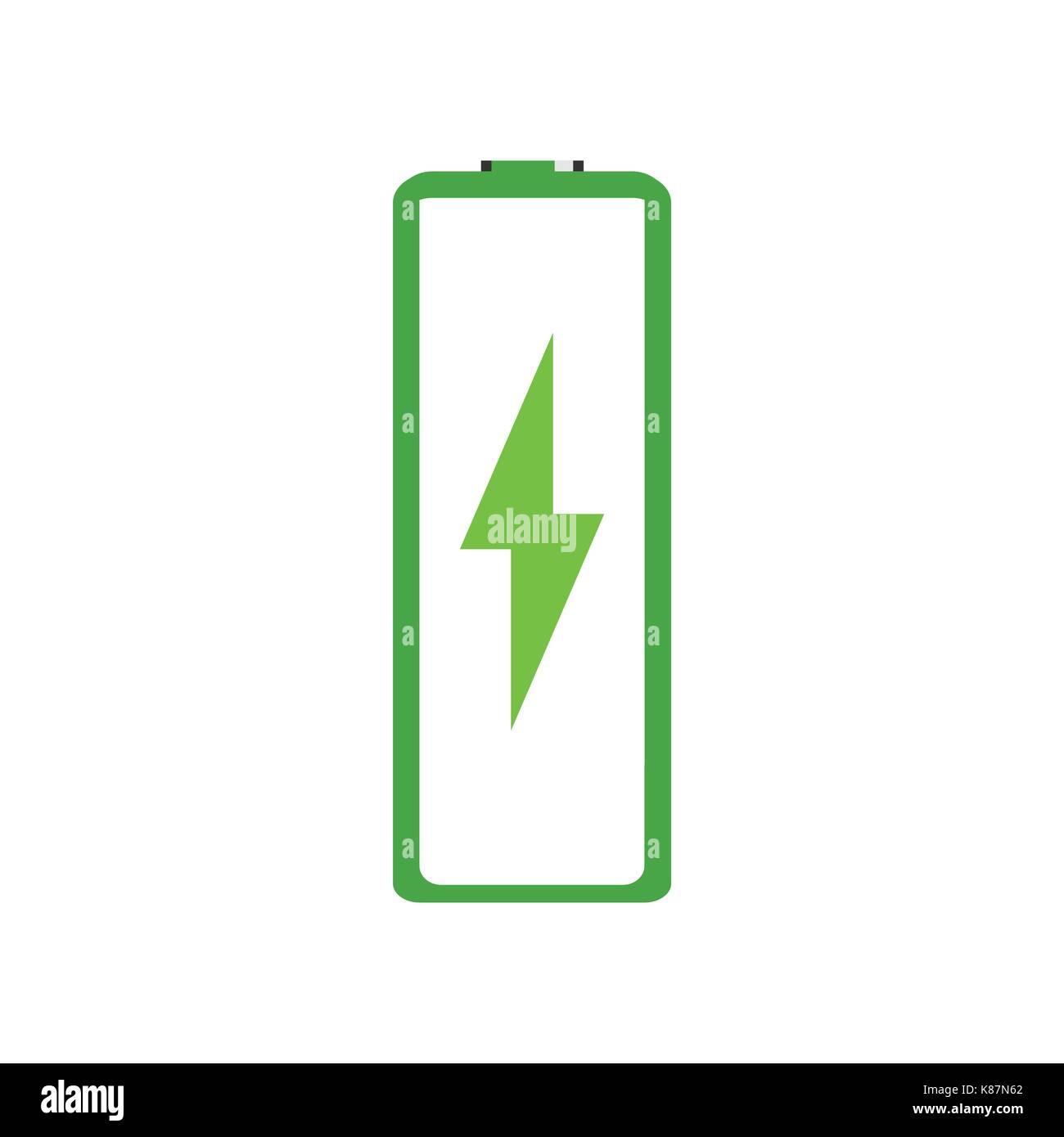 Vector illustration green battery charging icon, symbol Stock Vector ...