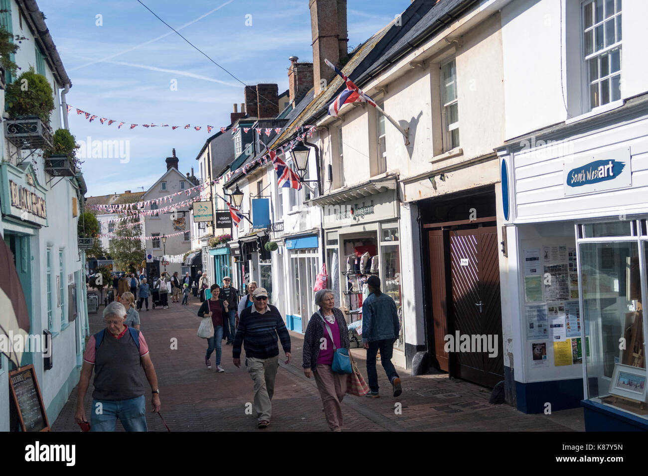 Old Fore Street, Sidmouth, Devon, England - Stock Image
