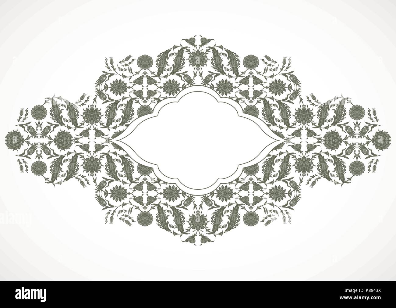Arabesque Vintage Outline Decor Ornate Pattern For Design Template Vector Eastern Motif Floral Border Frame Lines Flowers Save The Date And Gre