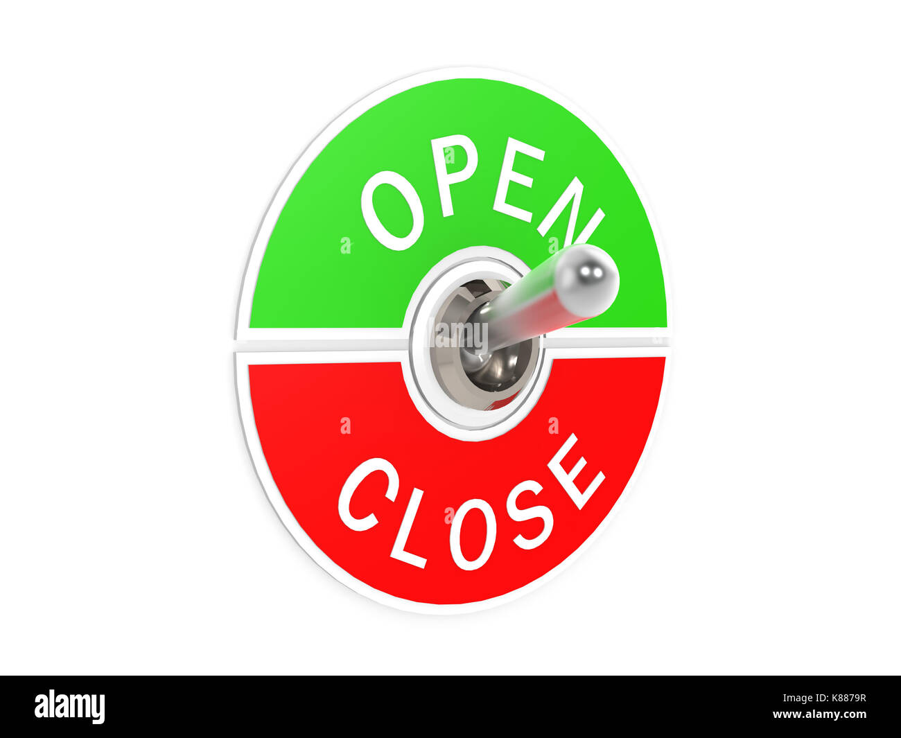 Open close toggle switch - Stock Image