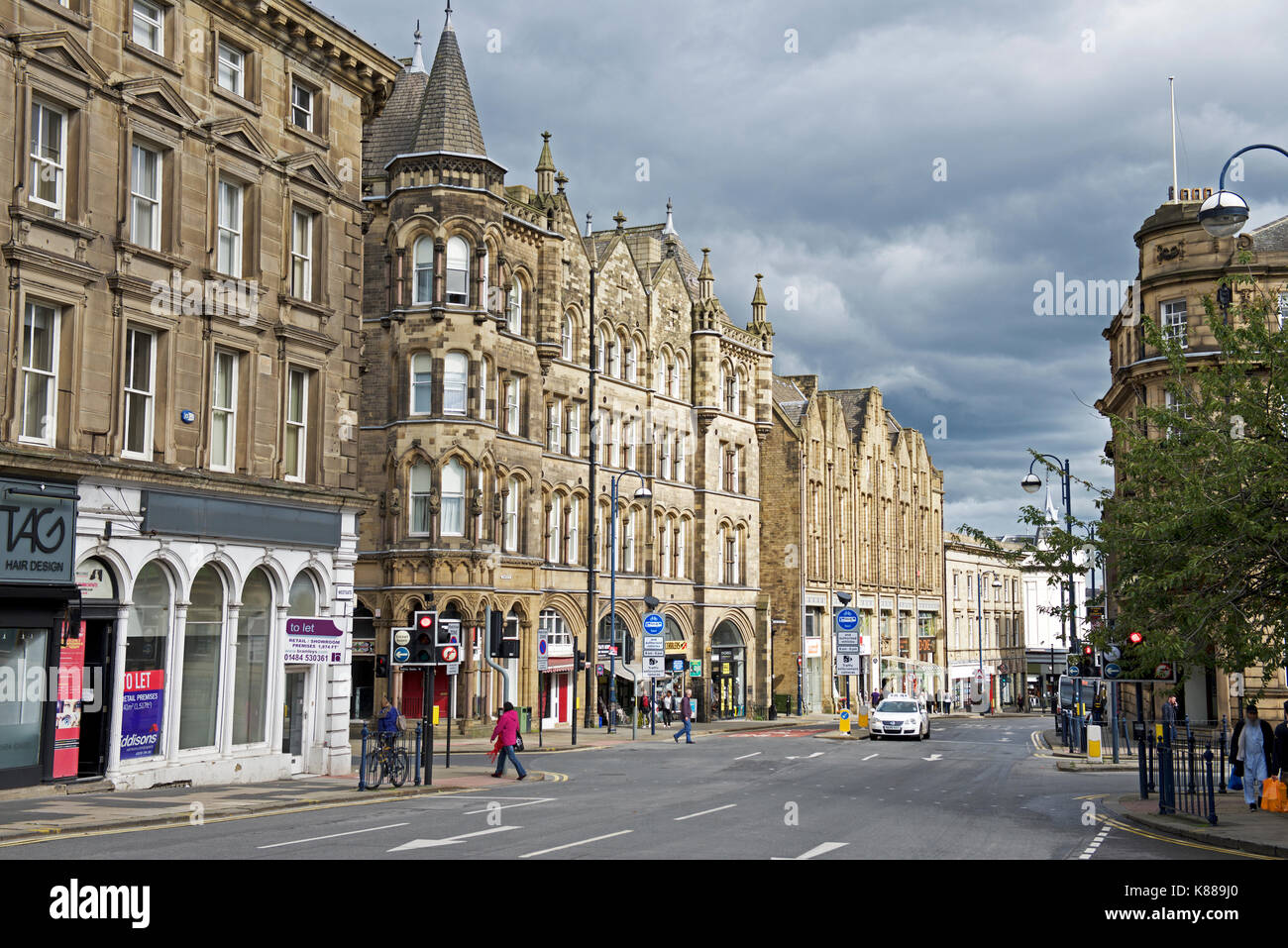 Westgate, Huddersfield, Kirklees, West Yorkshire, England UK - Stock Image