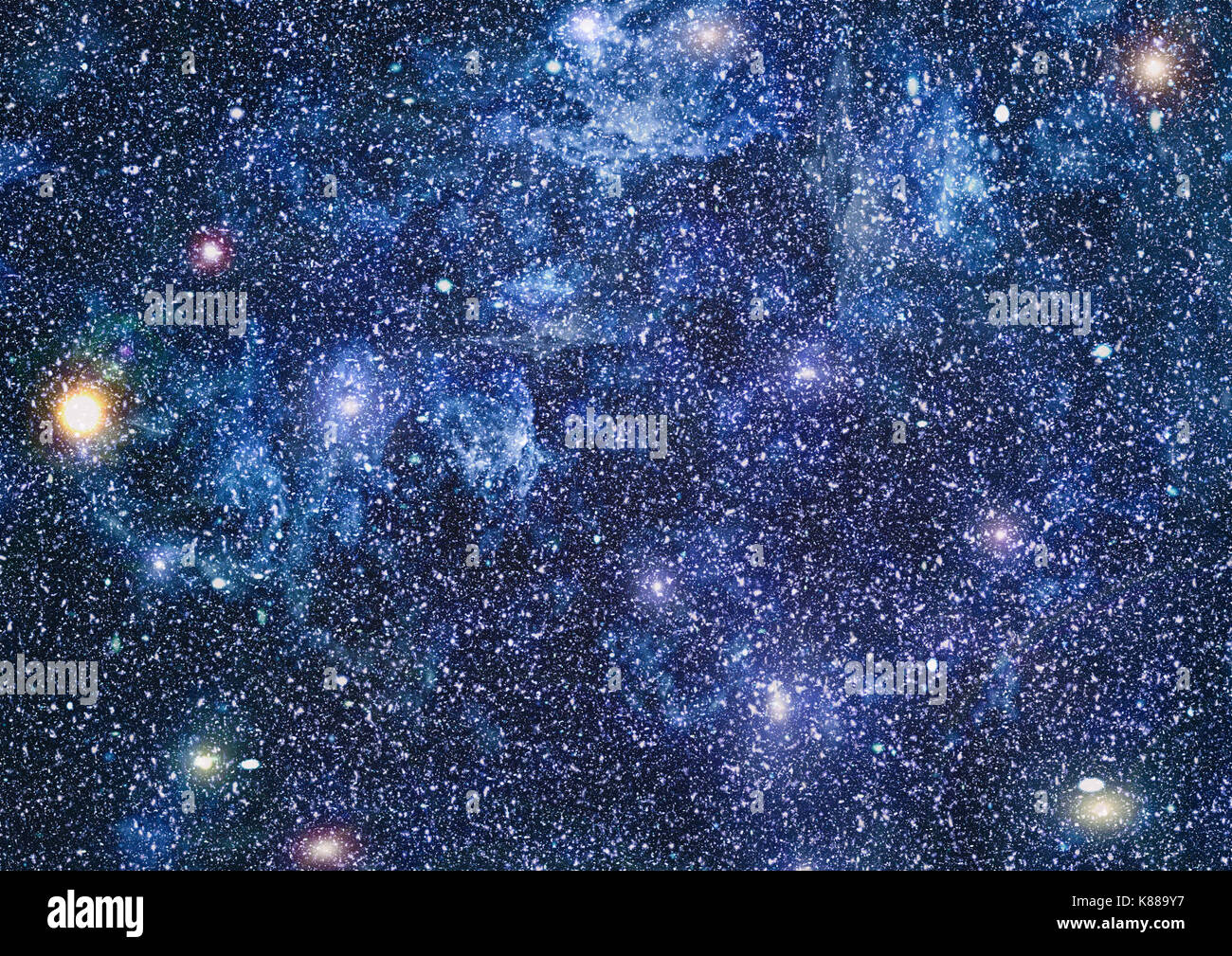 Panoramic Looking Into Deep Space Dark Night Sky Full Of Stars The Stock Photo Alamy