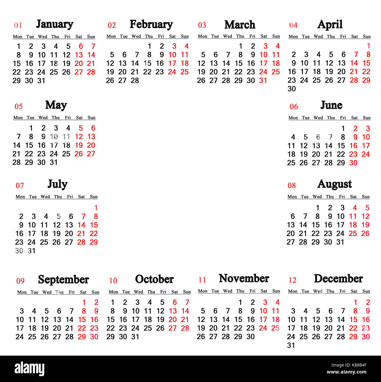 calendar for 2018 on the white background with empty place for text in the middle calendar for the next year