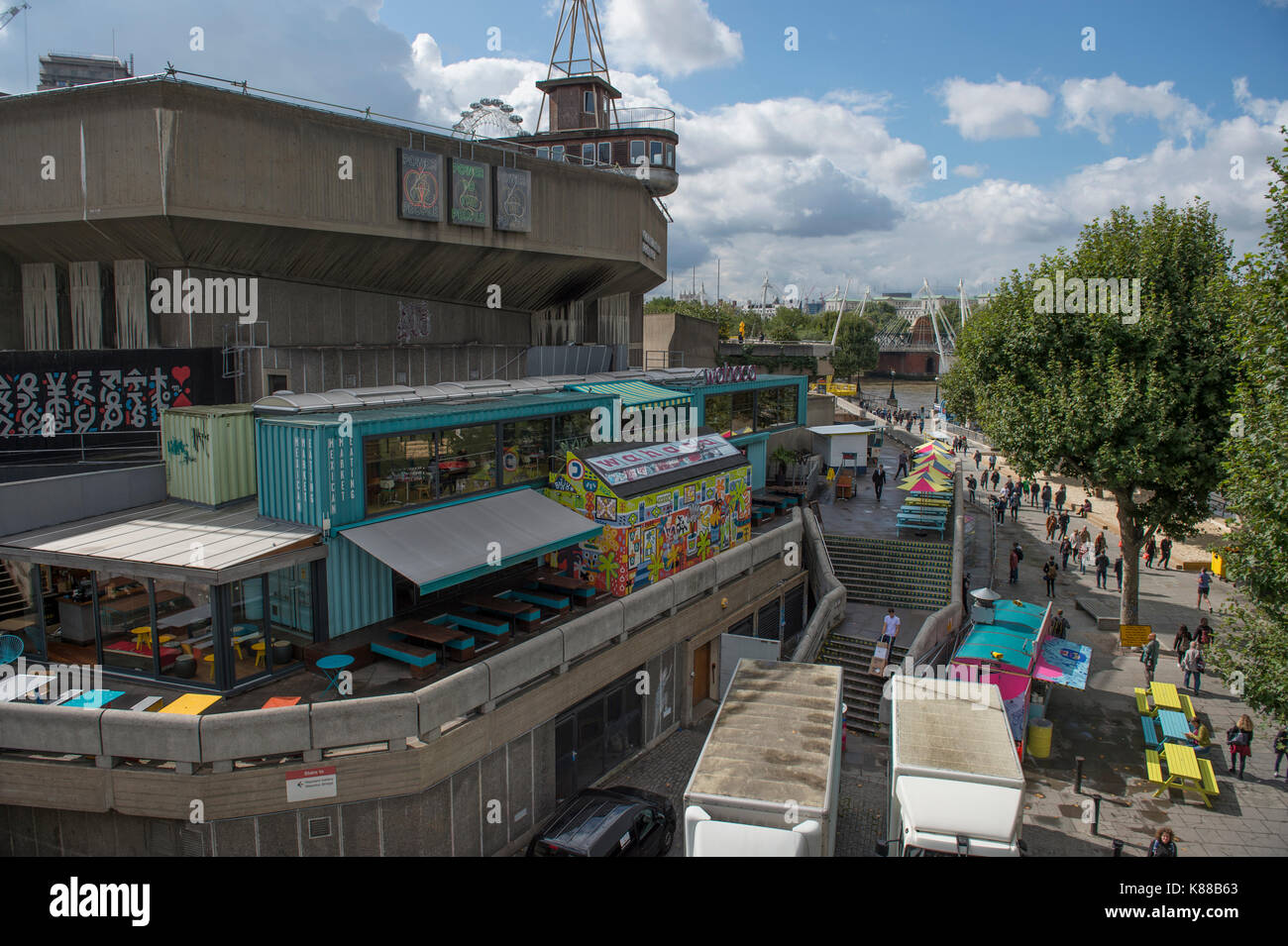 BFI Southbank seen from Waterloo Bridge, London, UK - Stock Image