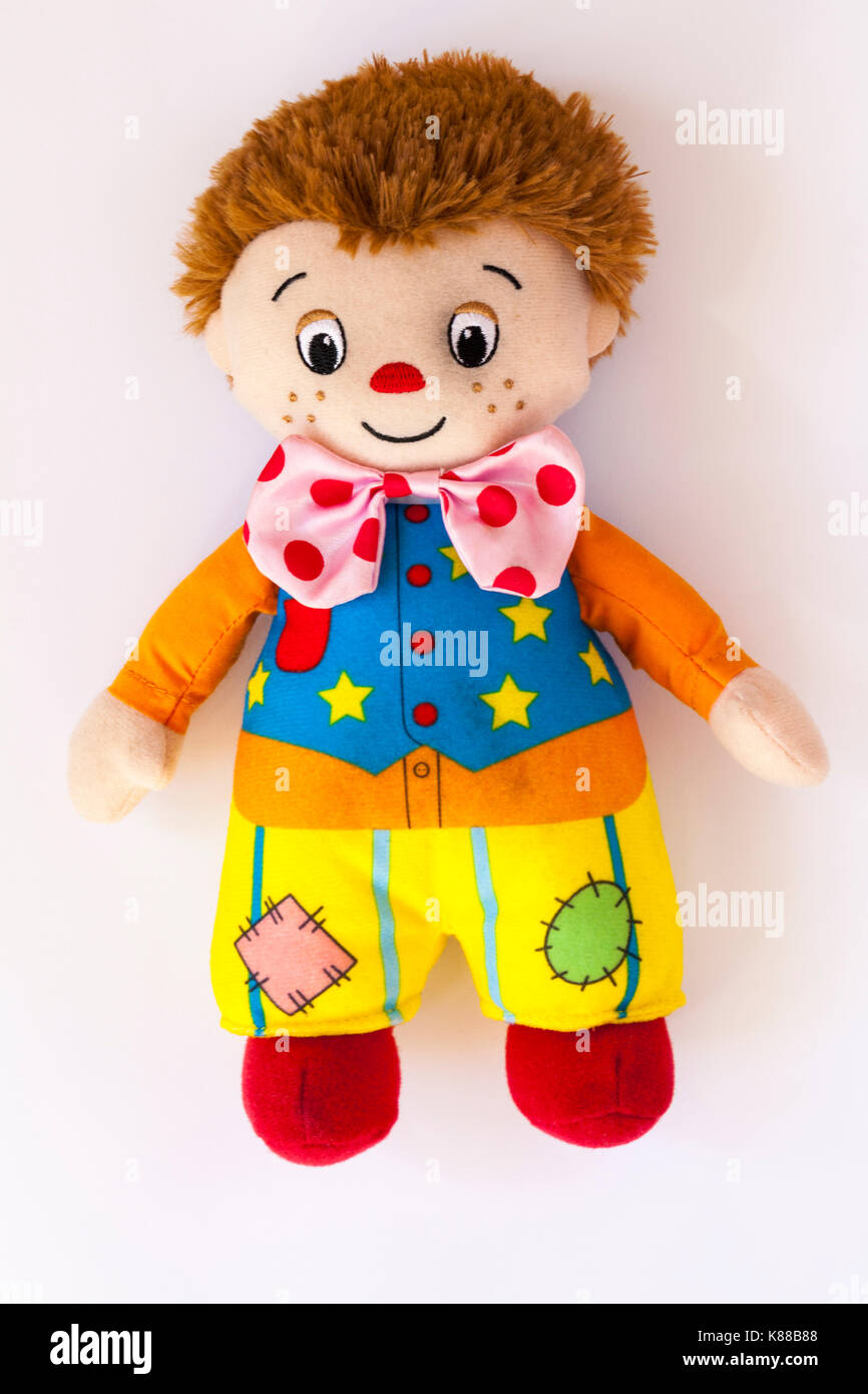 Mr Tumble Something Special toy clown isolated on white background - Stock Image
