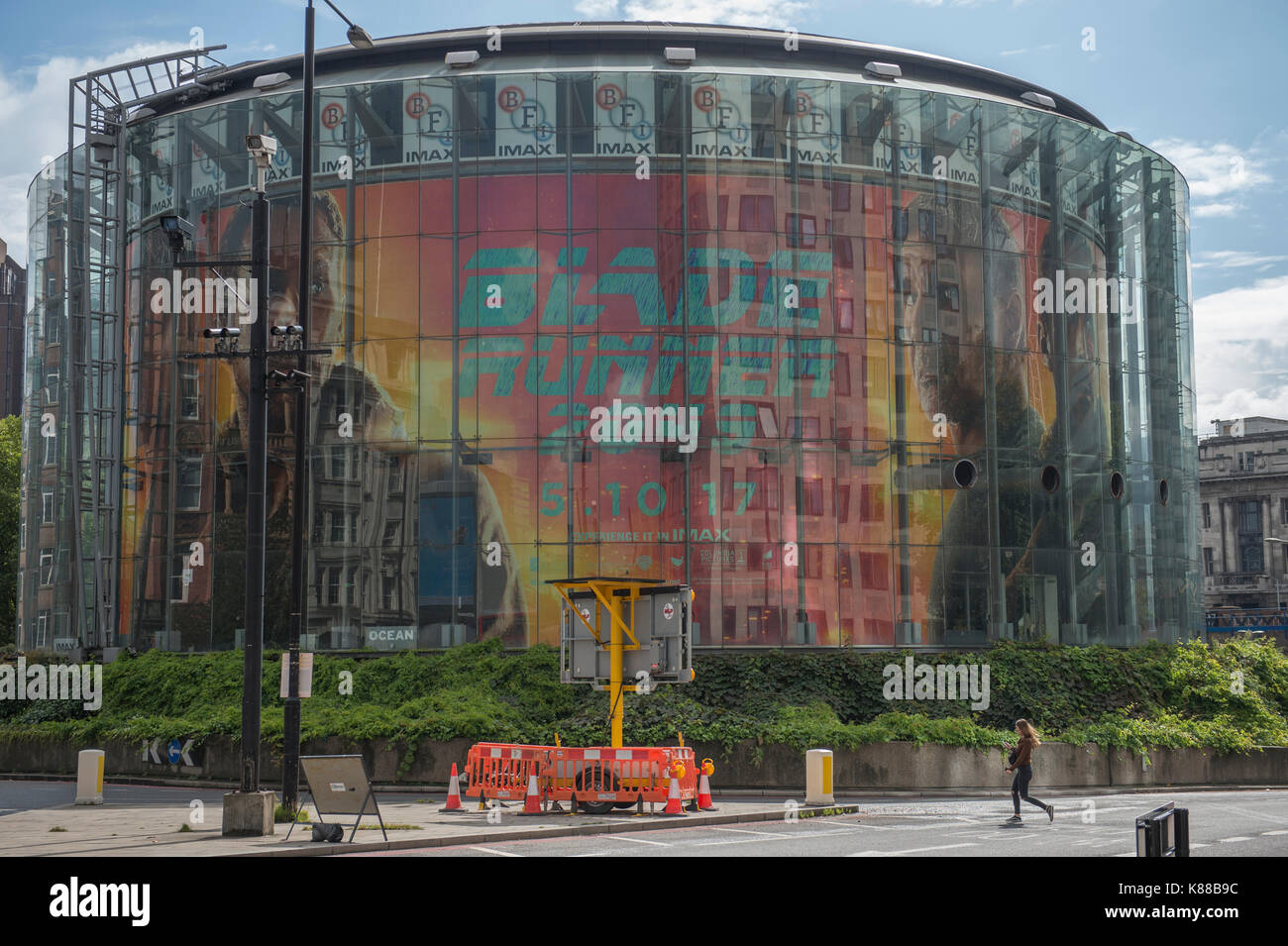 Blade Runner 2049 promotion at BFI Imax, the UKs biggest cinema screen at Waterloo, London, UK. Credit: Malcolm Park/Alamy. - Stock Image