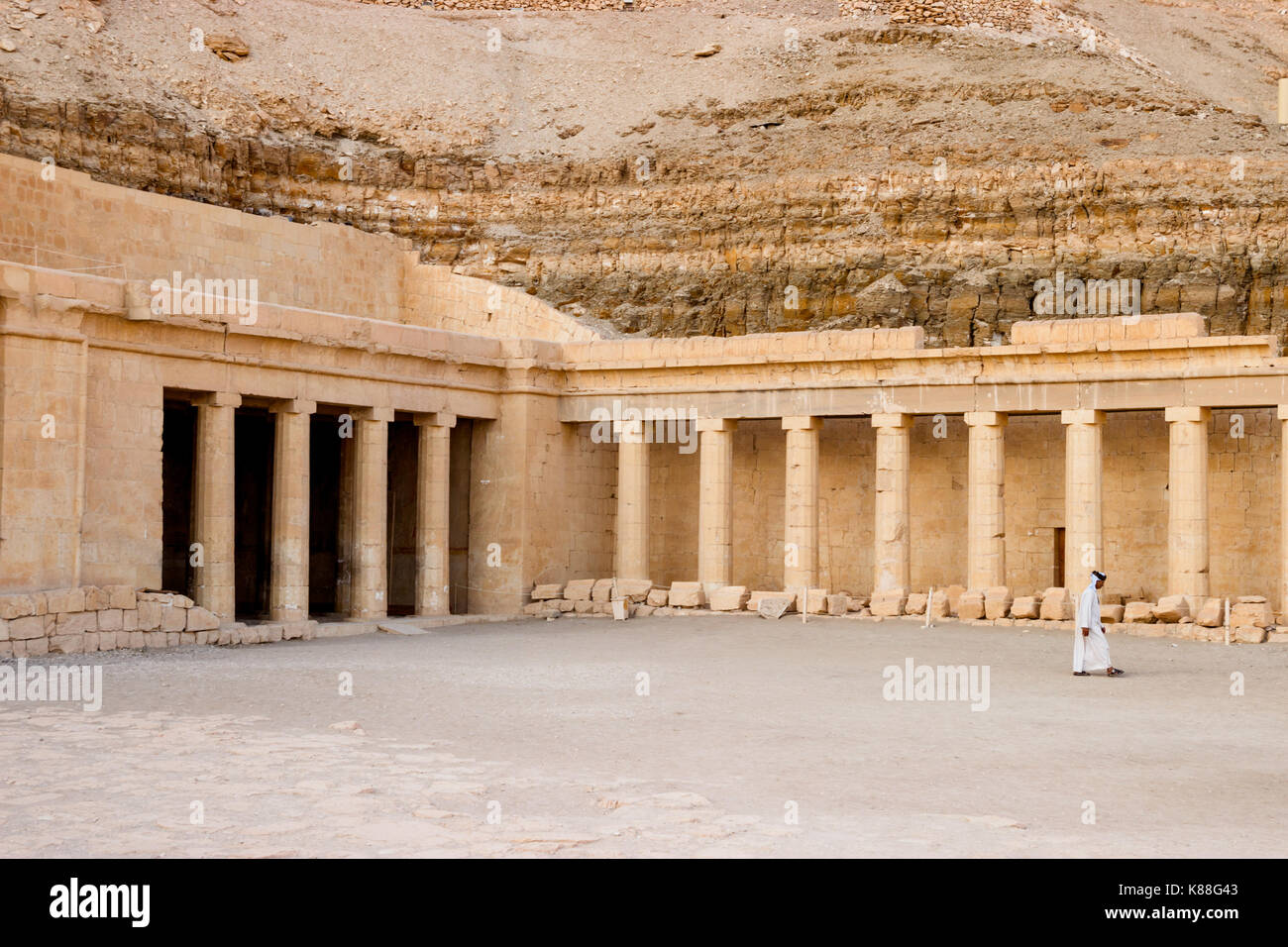 The ancient temple of Hatshepsut in Luxor, Egypt - Stock Image
