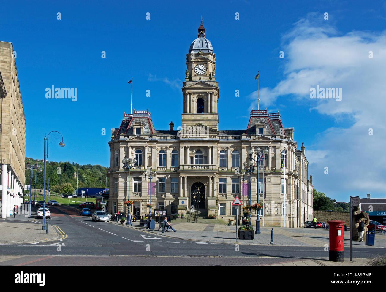 Town Hall, Dewsbury, West Yorkshire, England UK - Stock Image