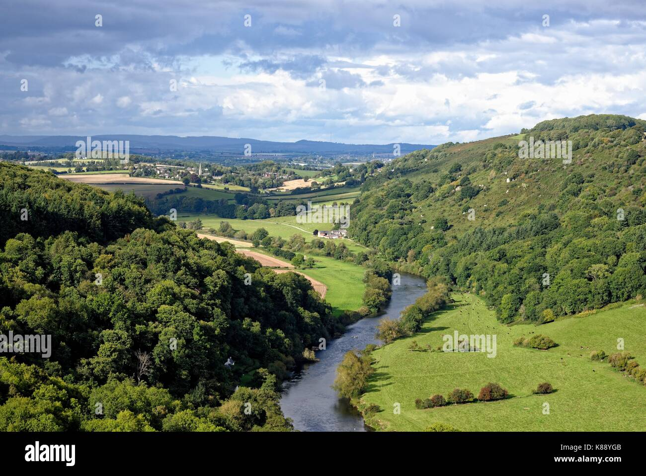 View from Symonds Yat Rock Gloucestershire England UK - Stock Image