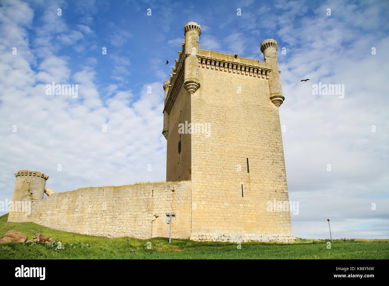 Castle of Belmonte, Palencia, Castilla y Leon, Spain - Stock Image