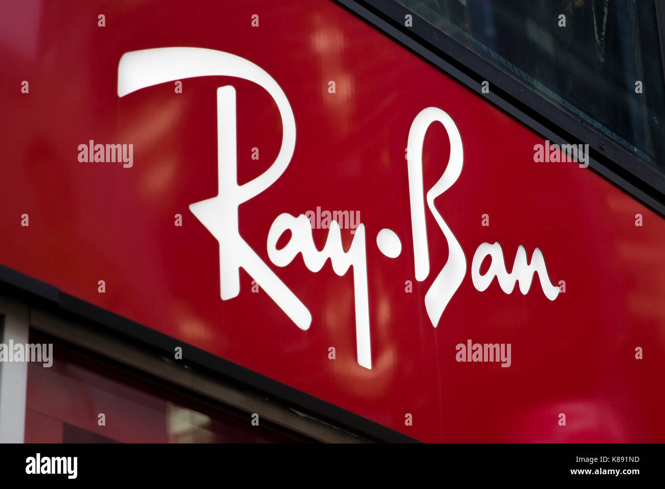 3e6043f1d2a Ray-Ban logo on store in New York