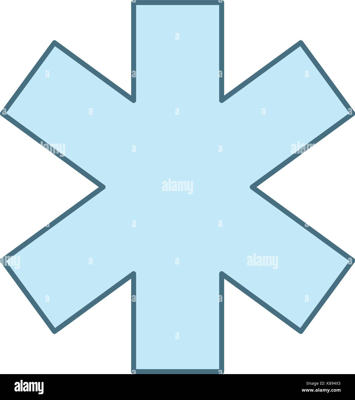 cross medical isolated icon - Stock Image