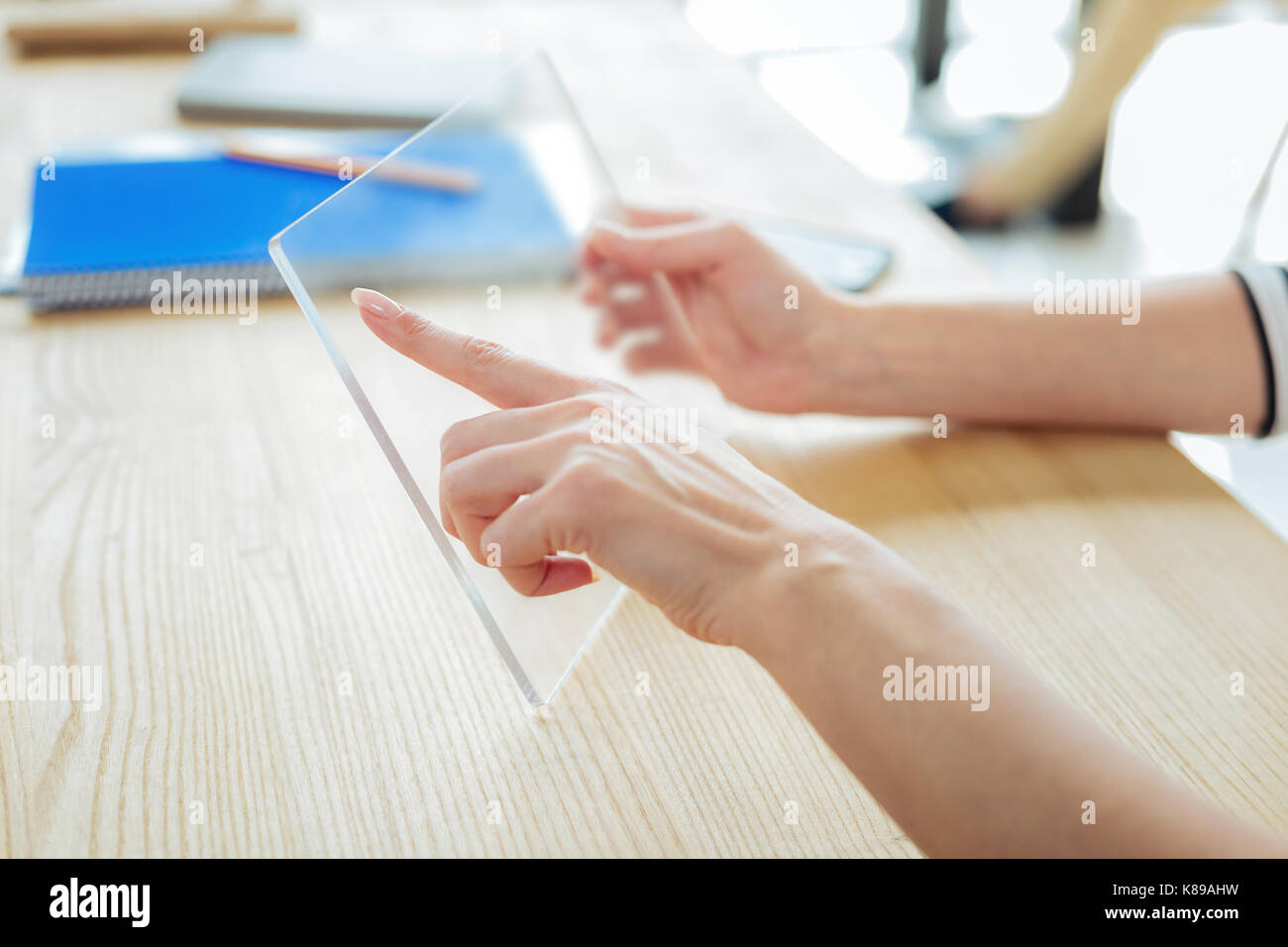 Close up of a modern innovative tablet - Stock Image