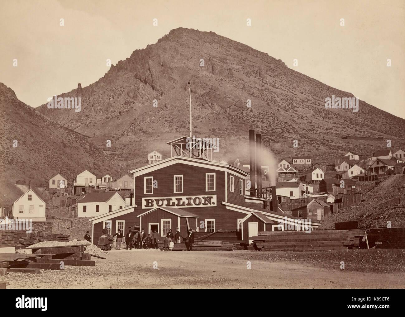 The Bullion Mine, Virginia City, Nevada - Carleton Watkins - circa 1876 - Stock Image