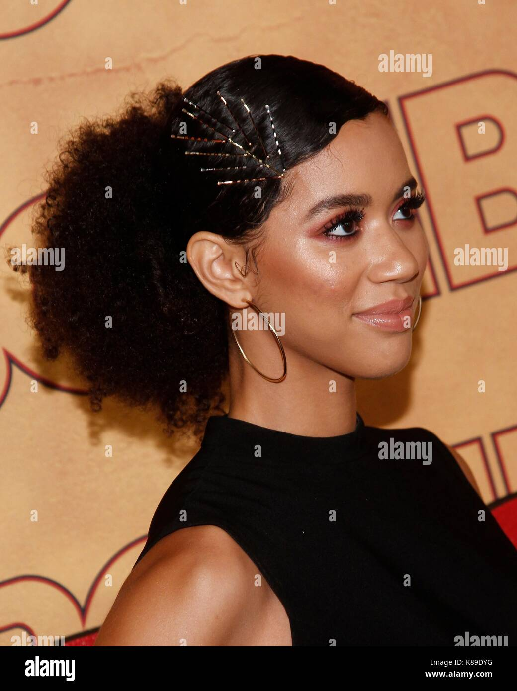 Jasmin Savoy Brown at arrivals for HBO Emmy After Party - Part 2, The Pacific Design Center, Los Angeles, CA September Stock Photo