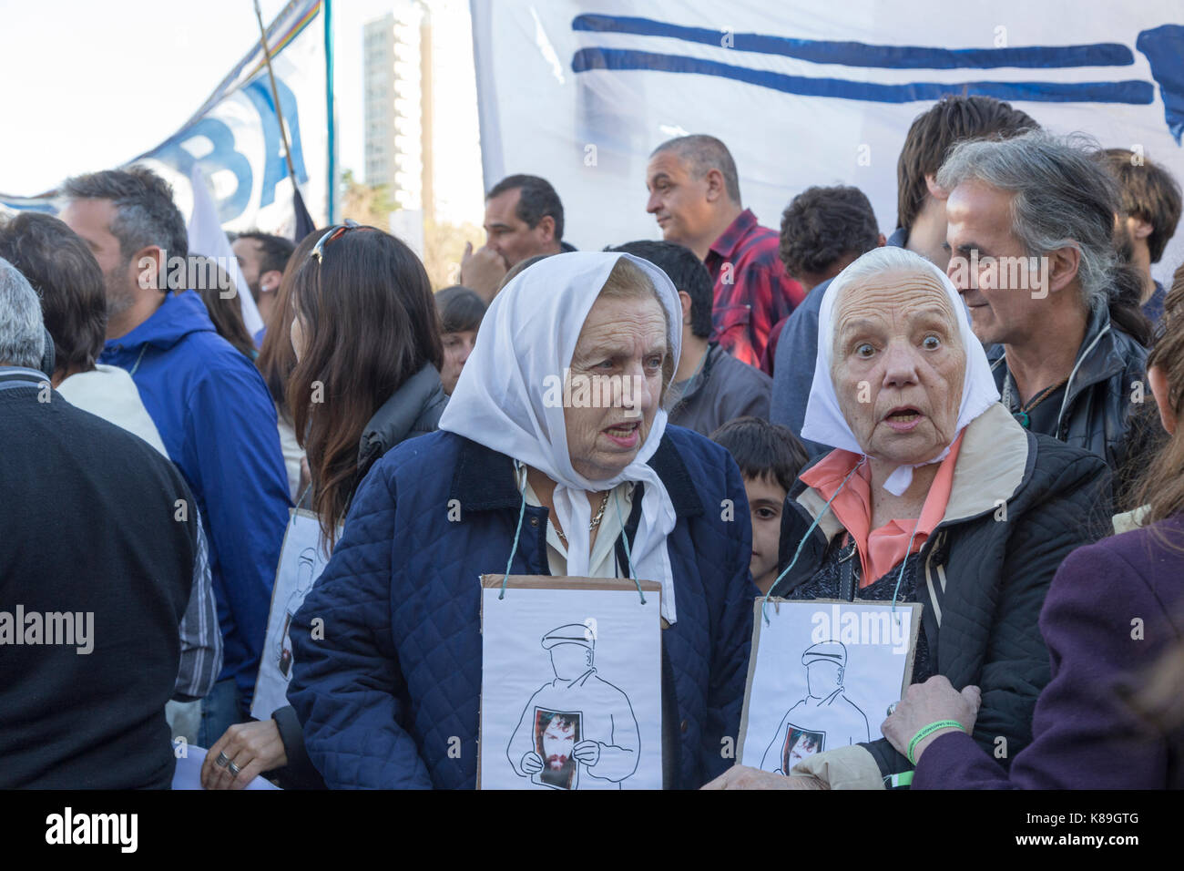 La Plata, Argentina. 18th Sep, 2017. Social, political and human rights organizations march eleven years after the - Stock Image
