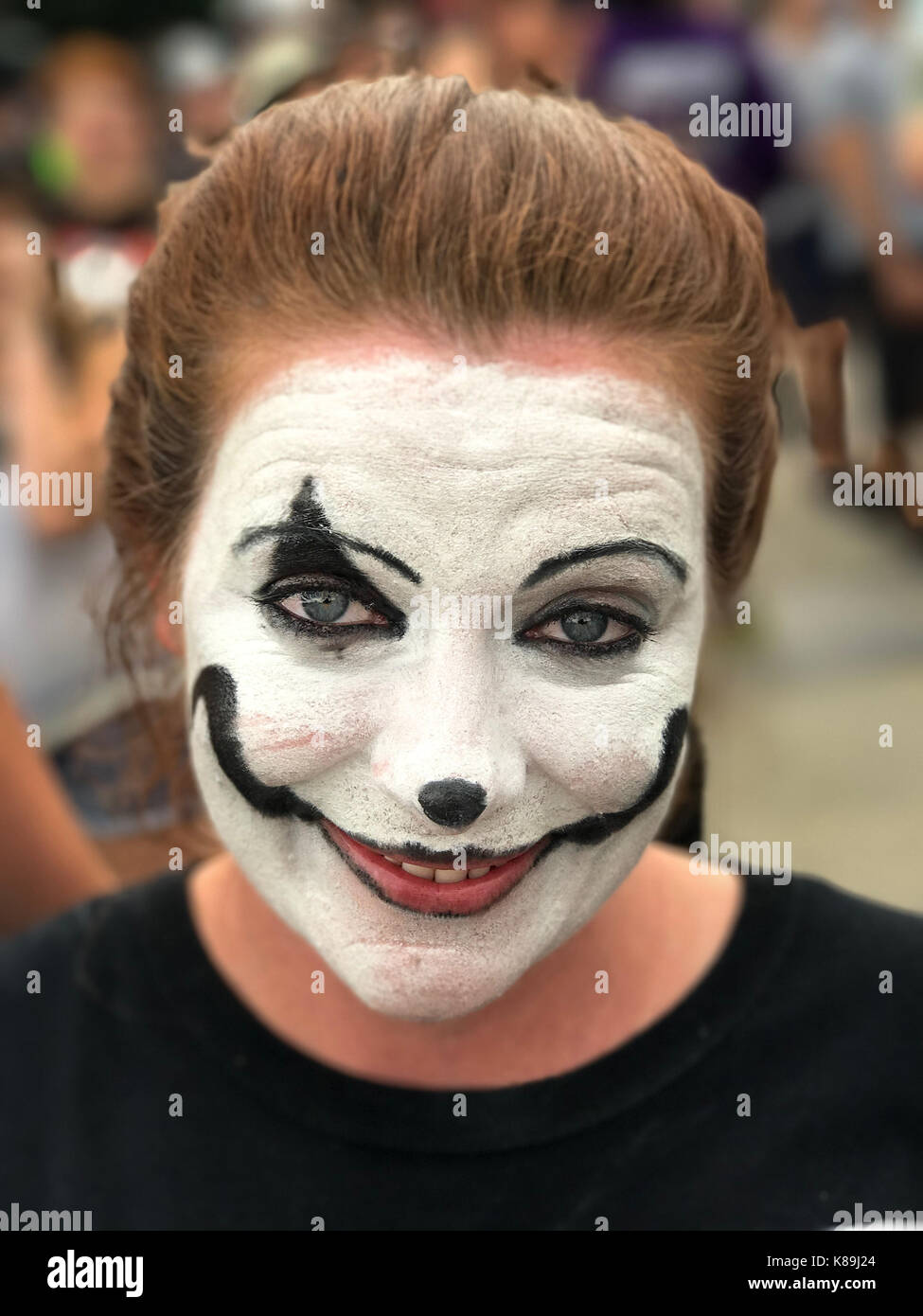 Washington, D.C, USA. 16th Sep, 2017. Winter poses for a photo as she attends Juggalo march and rally at the Lincoln Stock Photo