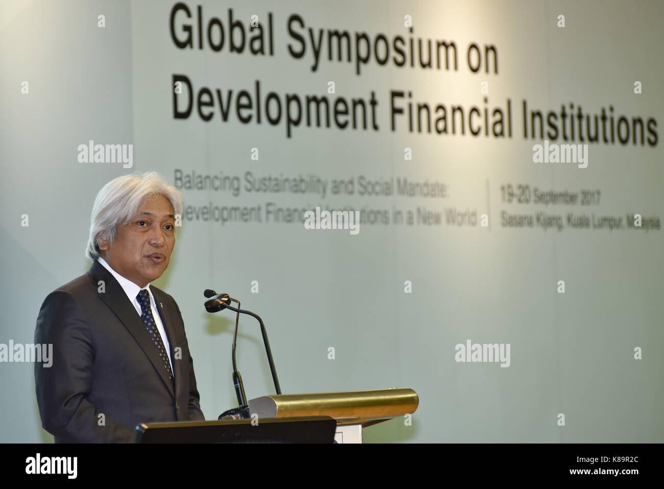 Kuala Lumpur, Malaysia. 19th Sep, 2017. Governor Muhammad bin Ibrahim, Bank Negara (the Central Bank)Â Malaysia - Stock Image