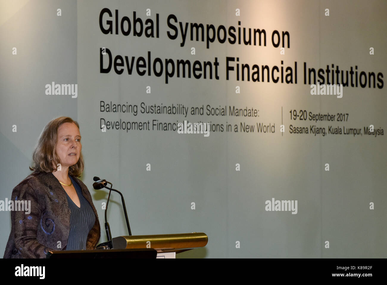 Kuala Lumpur, Malaysia. 19th Sep, 2017. Ms. Caroline Heider, Director General and Senior Vice President, Independent - Stock Image