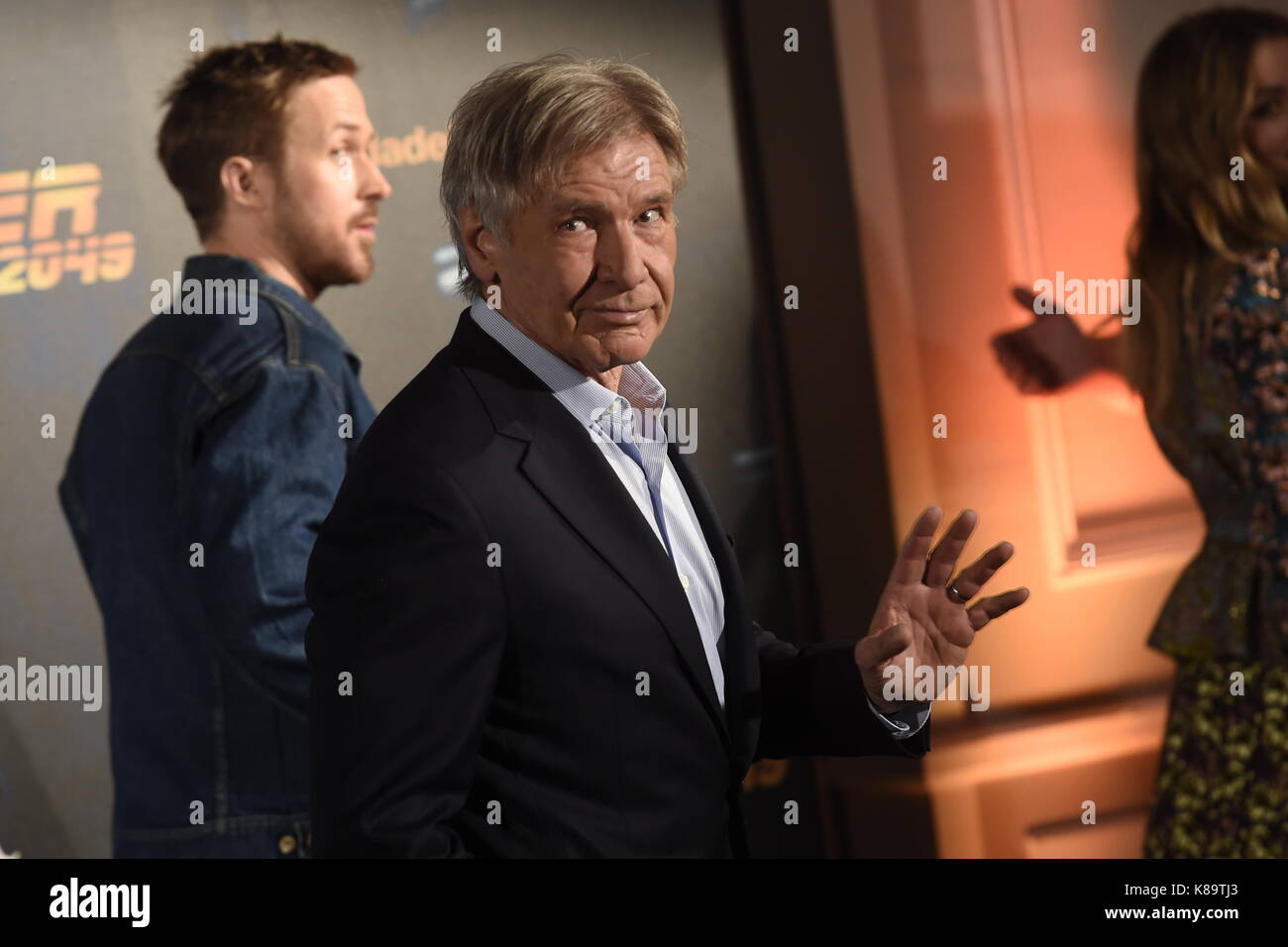 Madrid, Spain. 19th Sep, 2017. Actor Harrison Ford attending the photocall for 'Blade Runner 2049' on Tuesday - Stock Image