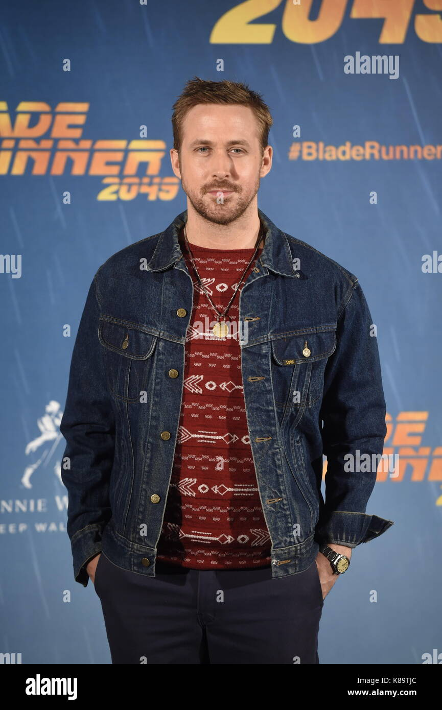 Madrid, Spain. 19th Sep, 2017. Actor Ryan Gosling attending the photocall for 'Blade Runner 2049' on Tuesday - Stock Image