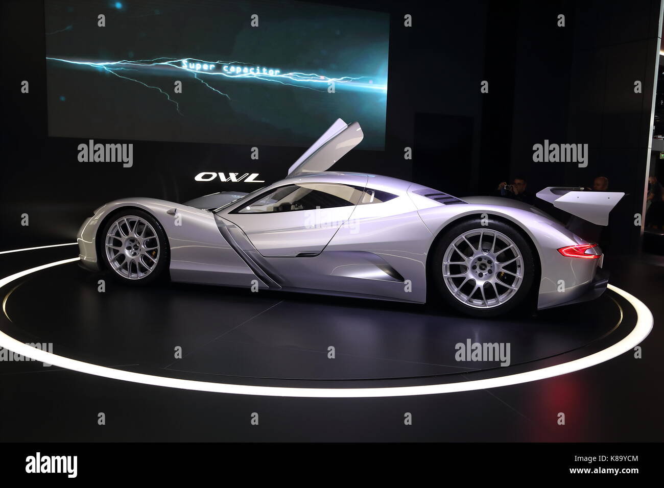 Car manufacturers from all over the world present their newest models and concept cars at this year's IAA car - Stock Image