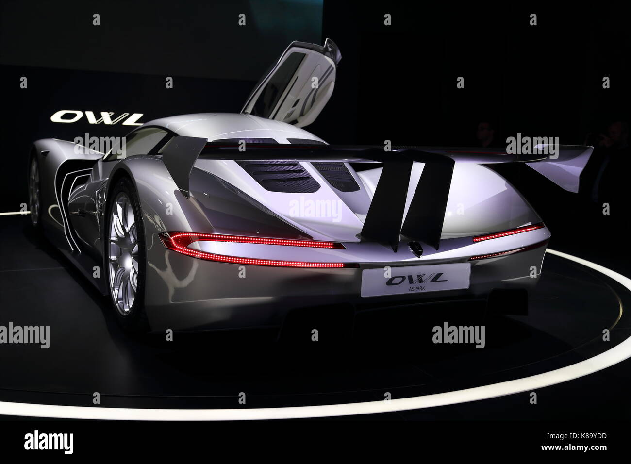 Car manufacturers from all over the world present their newest models and concept cars at this year's IAA car motor Stock Photo