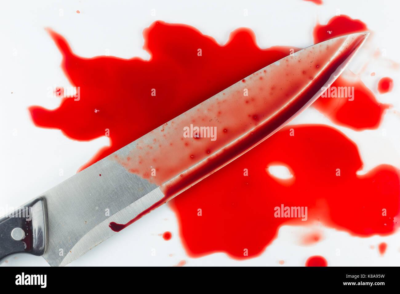 Blood, Murder - Stock Image