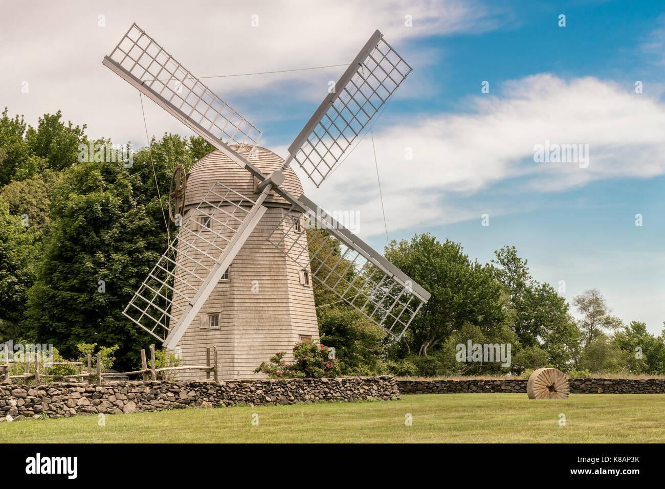 Historic Windmill found in Jamestown, Rhode Island - Stock Image
