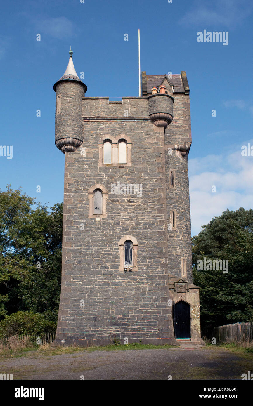 A view of Helen's Tower in the Clandeboye Estate, Bangor, Co Down - Stock Image