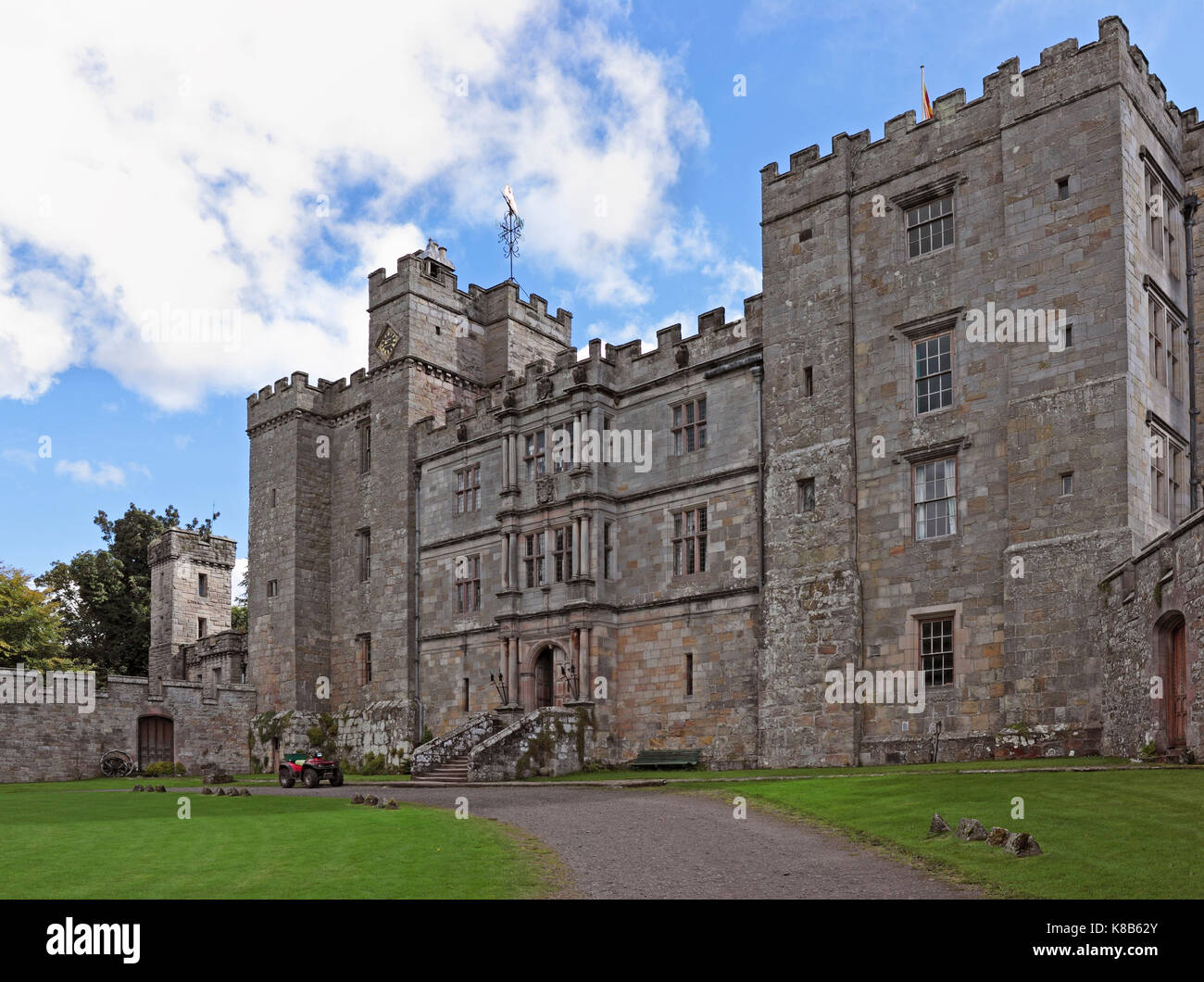 Chillingham Castle, 12th Century Castle - Stock Image