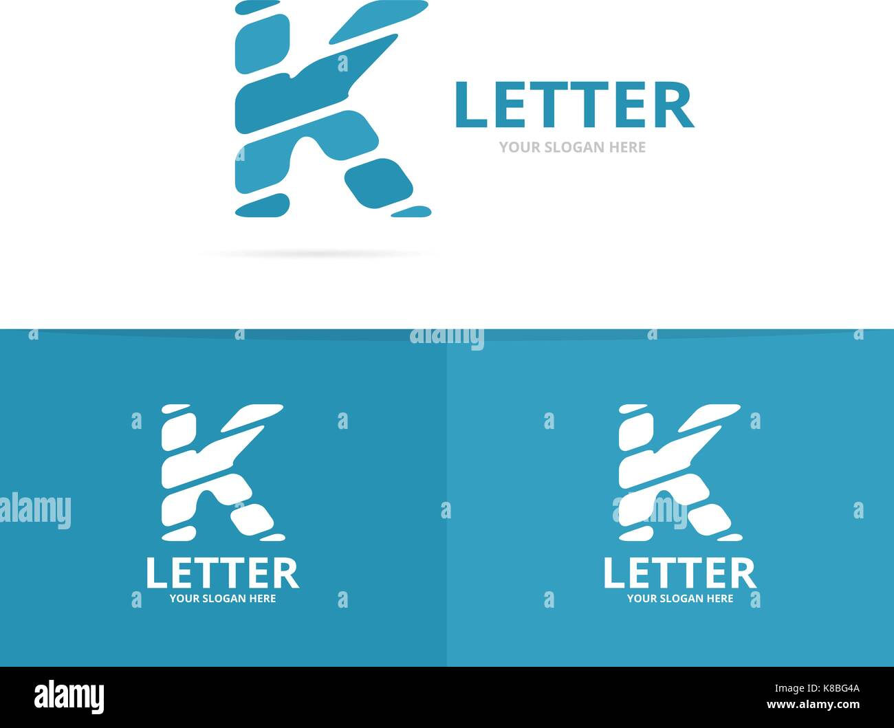 Unique vector letter K logo design template. - Stock Image