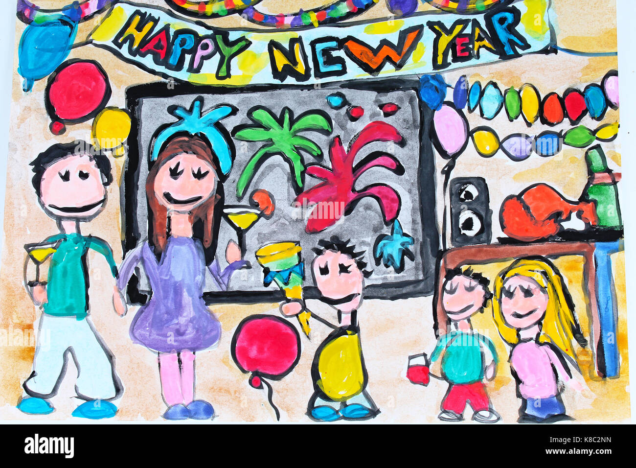 Happy New Year Drawing 33