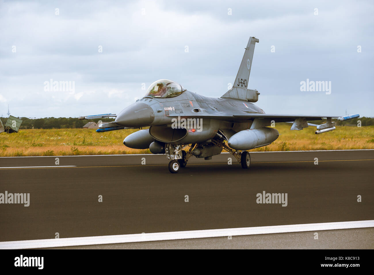 General Dynamics F-16A Fighting Falcon  at NTM2014 - Stock Image