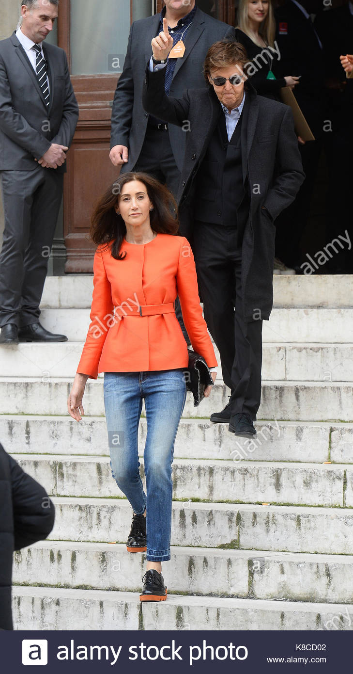 Sir Paul McCartney Nancy Shevell Celebrities Seen At The PFW Stella Show Opera