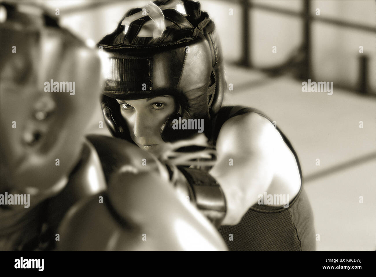 Women Boxers, fight, fighters - Stock Image