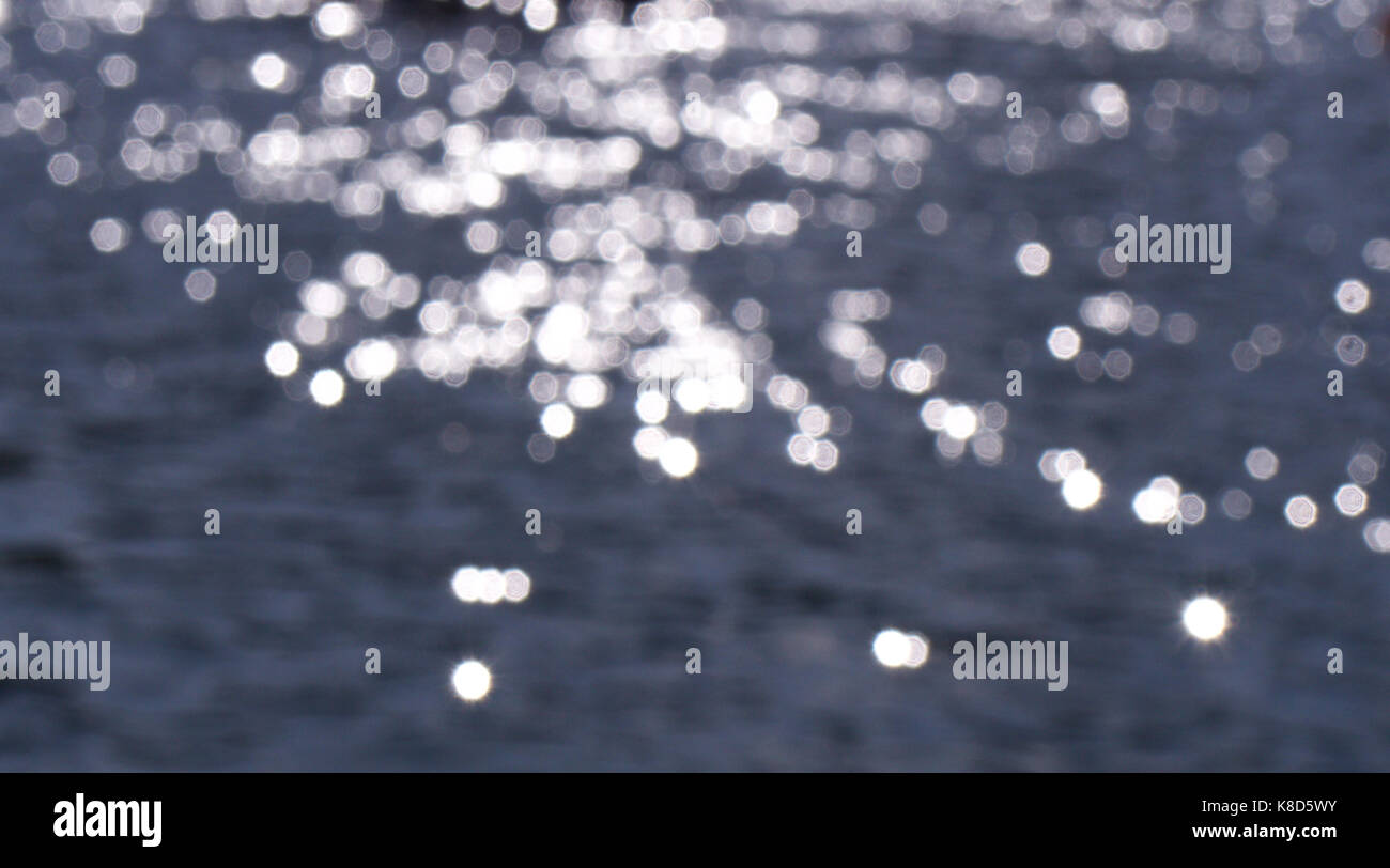 Abstract sunlight on water - Stock Image