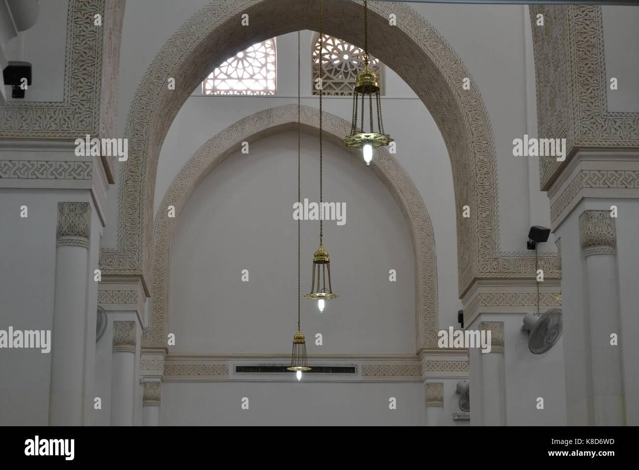 Quba mosque lamp symmetry - Stock Image