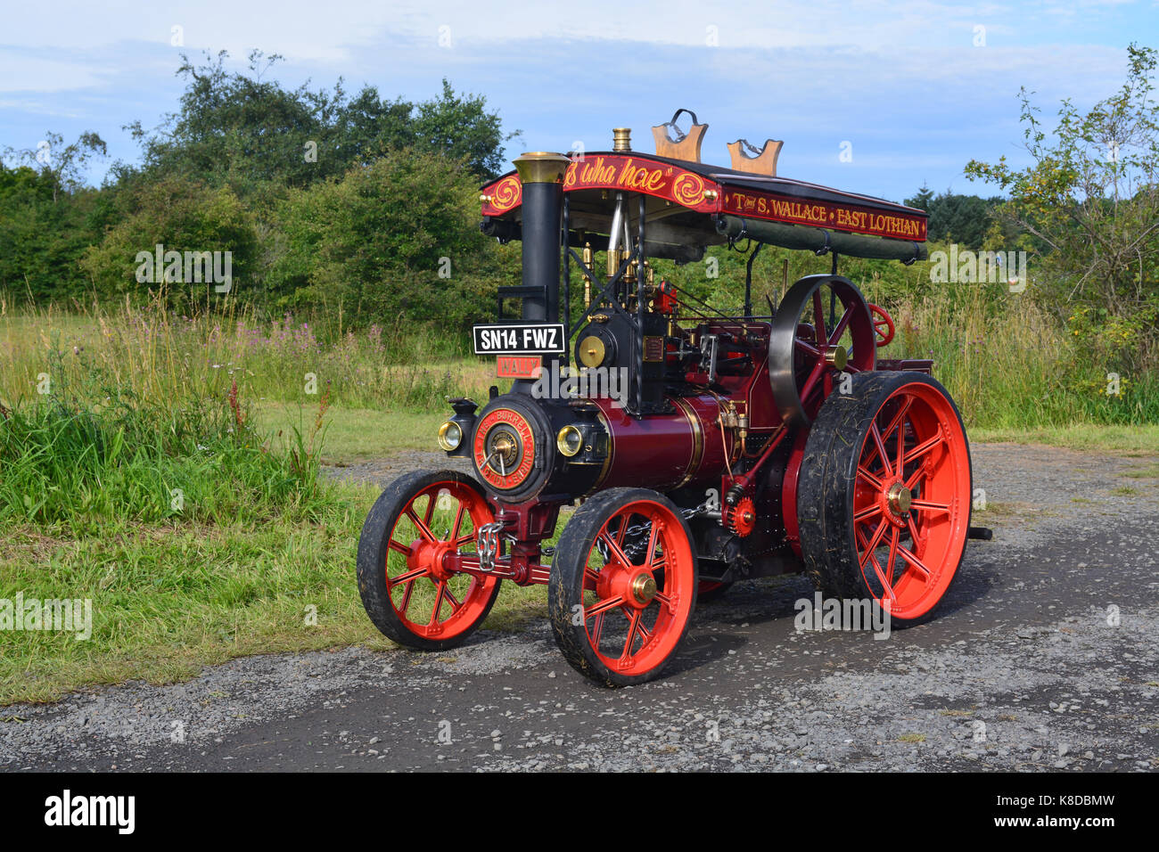Burrell Traction Engine 4 inch scale - Stock Image