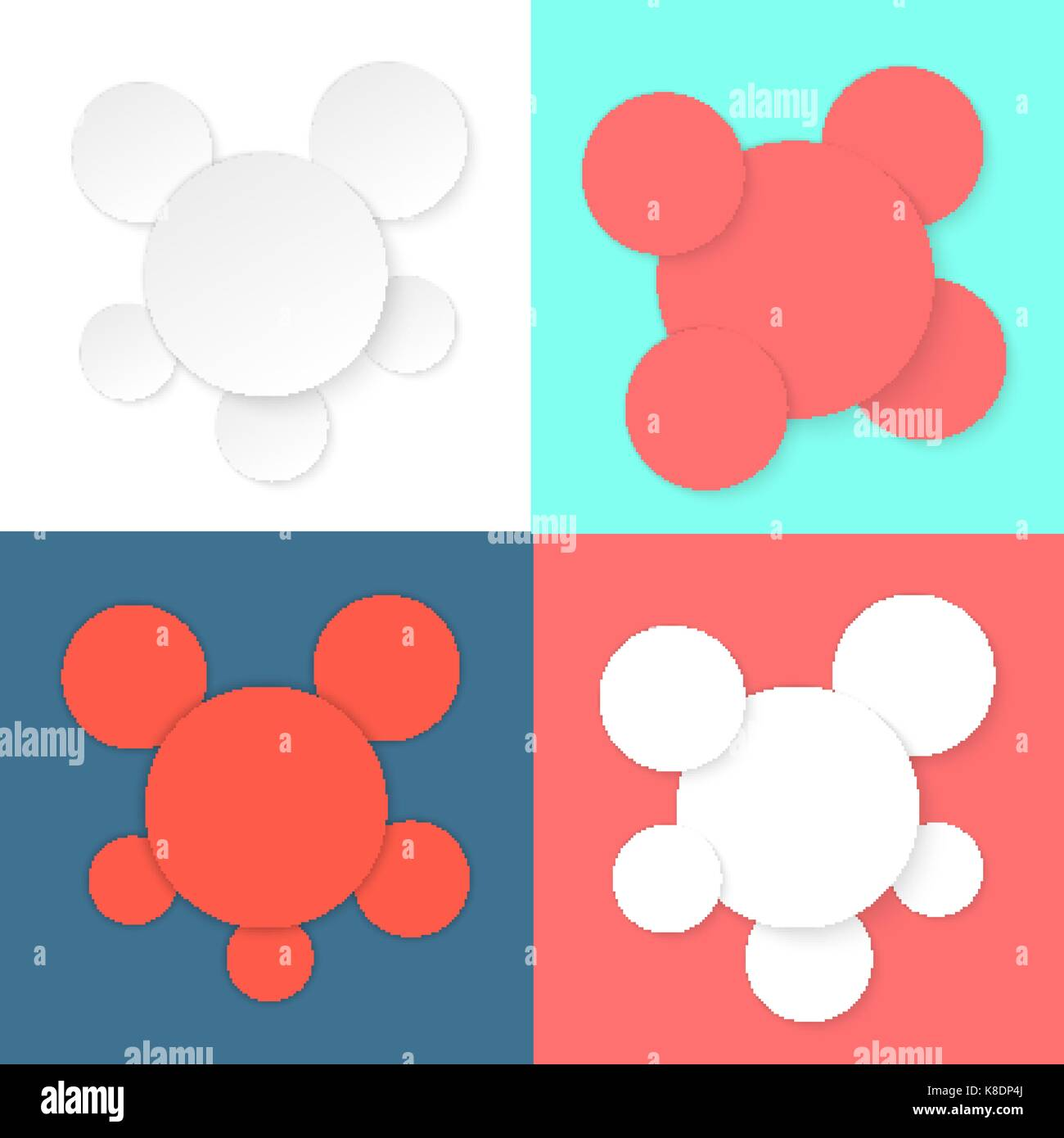 colored different circles template Stock Vector