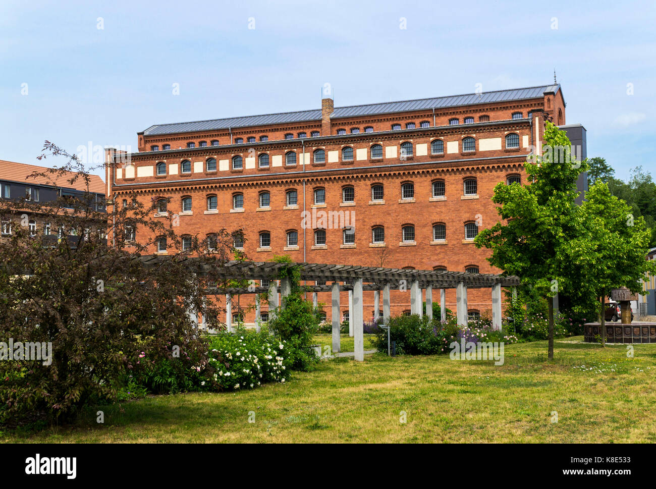 Luckau, old prison as a museum and archive of a circle Dahme Spreewald, Altes Gefaengnis als Museum und Kreisarchiv - Stock Image