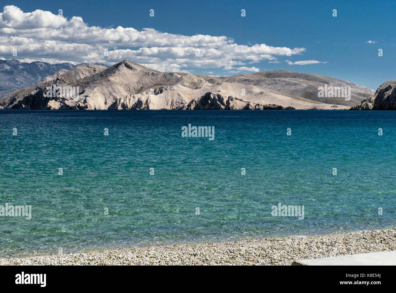 Croatia, Kvarner bay, island Privic in the view of Baska, Kroatien, Kvarner Bucht, Insel Privic in der Ansicht von Baska Stock Photo
