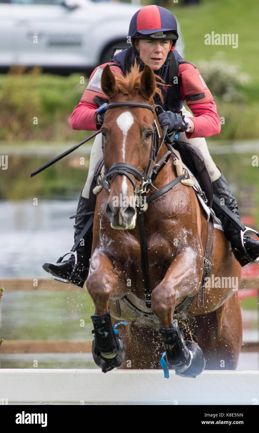 Louisa Lockwood on DIAMOND RUCTIONS, SsangYong Blenheim Palace International Horse Trials 16th September 2017 - Stock Image