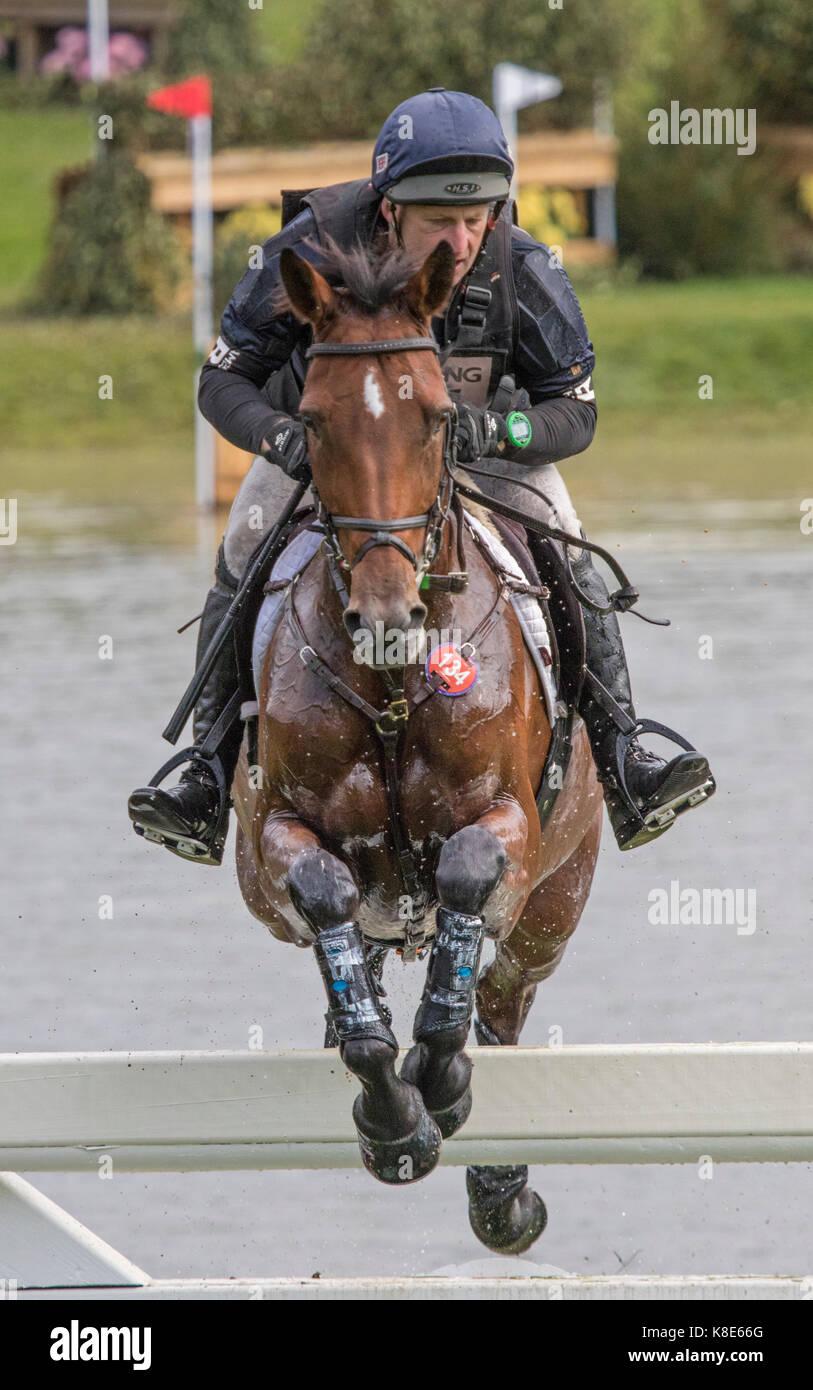 Anthony Clark on CRAMBAMBOLI,  Blenheim Palace International Horse Trials 16th September 2017 - Stock Image